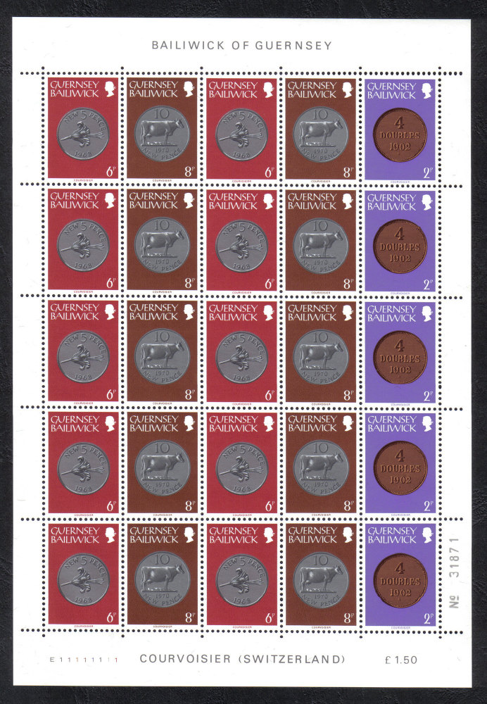 Guernsey Stamps 1979 Definitives Full sheet - MINT (z559)