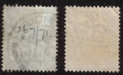 British stamps 1902 - 1913 KEVII Used (back)