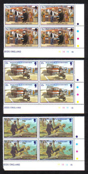 Guernsey Stamps 1980 Police Service - Blocks of 4 MINT (z570)