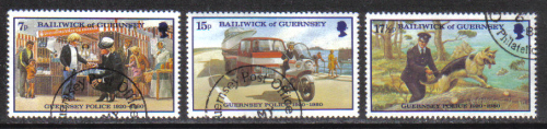 Guernsey Stamps 1980 Police Service - USED (z577)