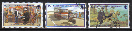 Guernsey Stamps 1980 Police Service - USED (z578)