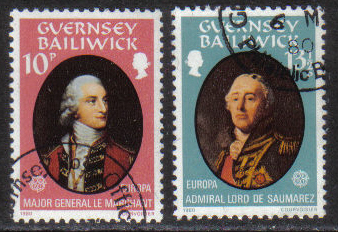 Guernsey Stamps 1980 Europa Famous People - USED (z583)