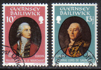 Guernsey Stamps 1980 Europa Famous People - USED (z582)