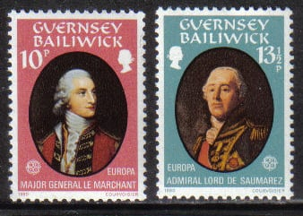 Guernsey Stamps 1980 Europa Famous People - MINT (z584)