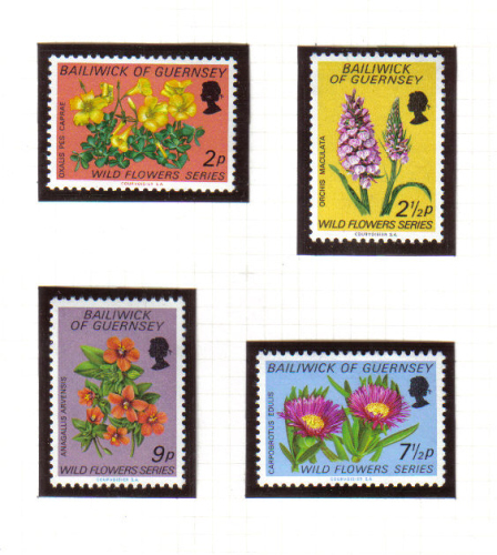 Guernsey Stamps 1972 Wild Flowers - MINT (z597)