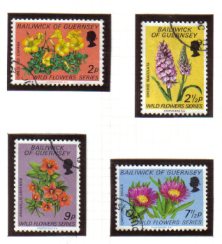Guernsey Stamps 1972 Wild Flowers - USED (z598)