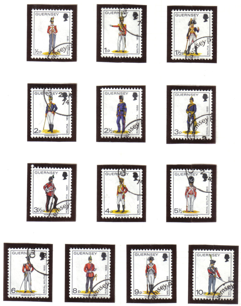 Guernsey Stamps 1974 Militia - USED (z599)