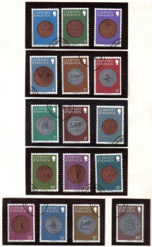 Guernsey Stamps 1979 Coins low values up to 20p - USED (z600)