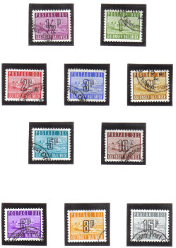Guernsey Stamps 1971 Postage Dues - USED (z605)
