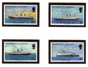 Guernsey Stamps 1973 Mail Packet Boats - MINT (z615)