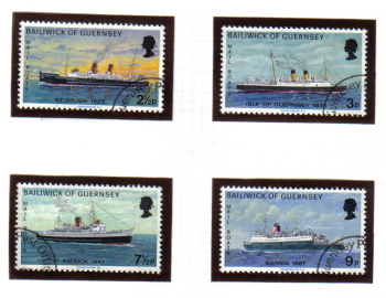 Guernsey Stamps 1973 Mail Packet Boats - USED  (z616)
