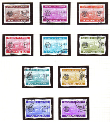 Guernsey Stamps 1977 Postage Dues - USED (z604)