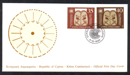 Cyprus Stamps SG 841-42 1993 Commonwealth Conference - Official FDC