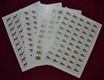 Cyprus Stamps SG 523-26 1979 Flora and Fauna - Full sheets MINT (h703)
