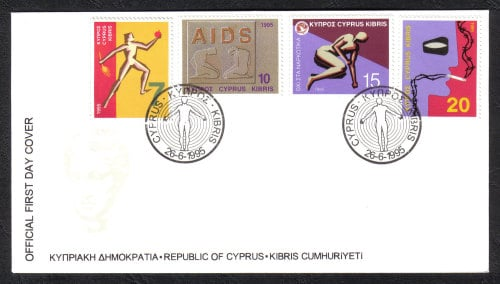 Cyprus Stamps SG 885-88 1995 Healty Living - Official FDC