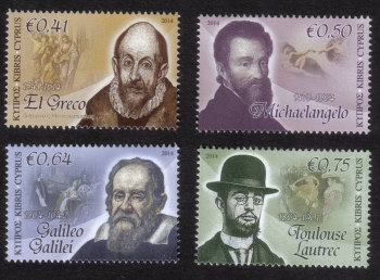 Cyprus Stamps SG 1322-25 2014 Intellectual Pioneers - MINT