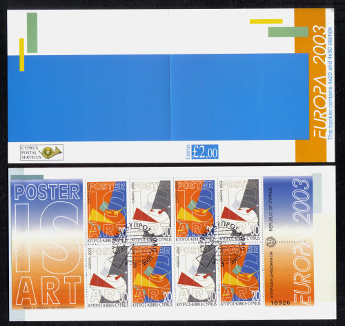 Cyprus Stamps SG 1058-63 (SB5) 2003 Europa Poster art - Booklet USED