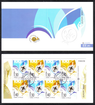 Cyprus Stamps SG 1133-34 (SB10) 2007 Europa Scouting - Booklet USED
