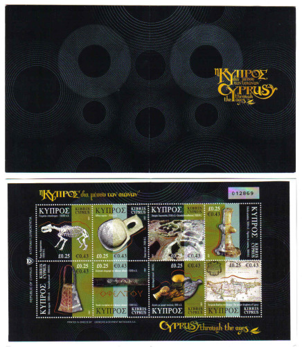 Cyprus Stamps SG 1137-44 2007 (SB10a) Cyprus through the ages Booklet - Par