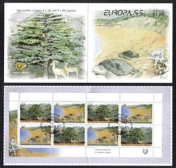 Cyprus Stamps SG 969-70 (SB2) 1999 Europa parks and gardens - Booklet USED (e663)