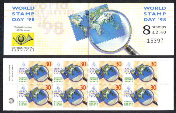 Cyprus Stamps SG 960a (SB1) 1998 World stamp day - Booklet MINT