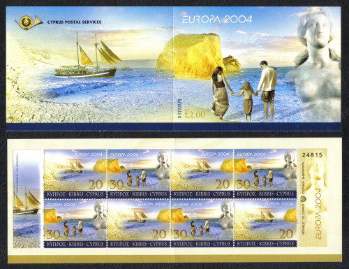 Cyprus Stamps SG 1073-74 (SB6) 2004 Europa Holidays - Booklet MINT
