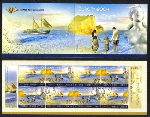 Cyprus Stamps SG 1073-74 (SB6) 2004 Europa Holidays - Booklet USED