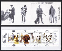 Cyprus Stamps SG 1098-101 (SB8) 2005 Dogs in a mans life - Booklet MINT