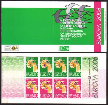 Cyprus Stamps SG 1110-11 (SB9) 2006 Europa Intergration - Booklet MINT