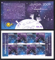 Cyprus Stamps SG 1188-89 2009 Europa Astronomy - Booklet CTO USED