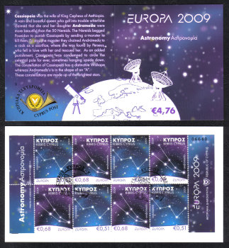 Cyprus Stamps SG 1188-89 2009 Europa Astronomy - Booklet USED