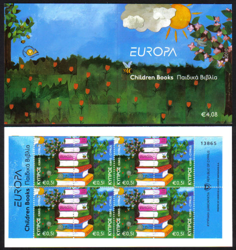 Cyprus Stamps SG 1219-20 (SB13) 2010 Europa Childrens books - Booklet MINT