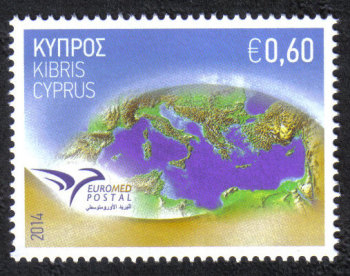 "Cyprus Stamps SG 1326 2014 Euromed Postal Joint Issue ""The Mediterranean"" - MINT"