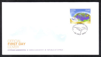 "Cyprus Stamps SG 1326 2014 Euromed Postal Joint Issue ""The Mediterranean"" - Official FDC"