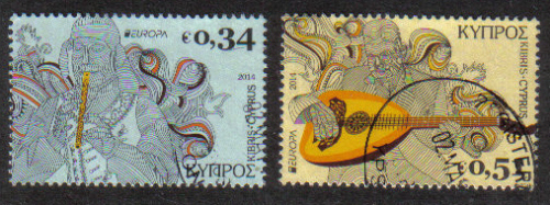 Cyprus Stamps SG 2014 (c) Europa National Music Instruments - USED (h846)