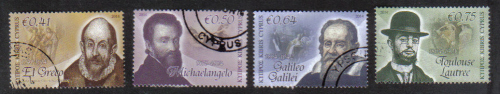 Cyprus Stamps SG 2014 (d) Intellectual Pioneers - USED (h845)