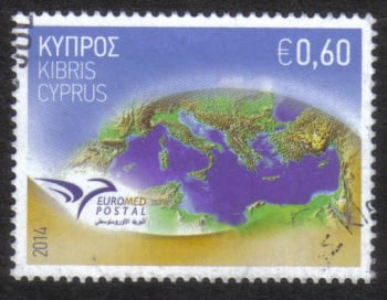 "Cyprus Stamps SG 1325 2014 Euromed Postal Joint Issue ""The Mediterranean"" - USED (h841)"