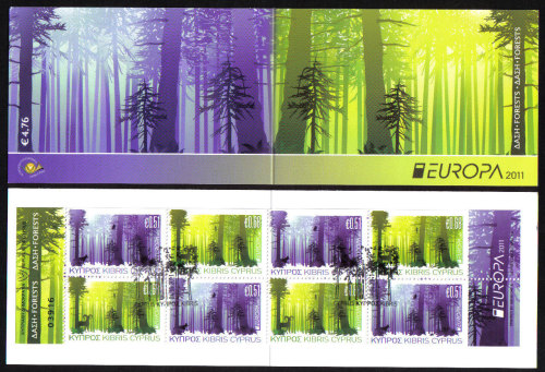 Cyprus Stamps SG 1246-47 (SB14) 2011 Europa Forests  - USED (e149)