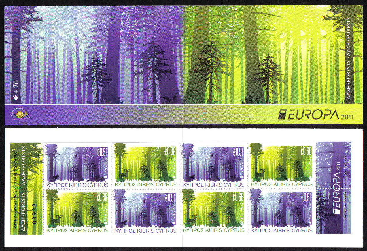 Cyprus Stamps SG 1246-47 (SB14) 2011 Europa Forests - Booklet MINT