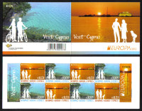 Cyprus Stamps SG 1275a-76a (SB17) 2012 Europa Visit Cyprus - Booklet MINT