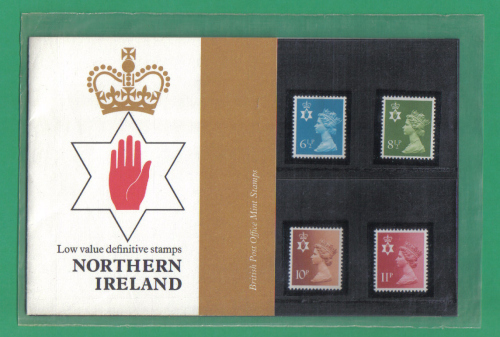 British Stamps 1976 Northern Ireland Definitive stamps Pack number 84 - MIN