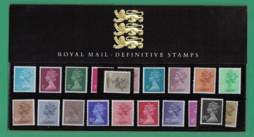 British Stamps 1983 Definitives Pack number 1 (the new series)  - MINT (h65