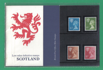 British Stamps 1976 Scotland Low value Definitive stamps Pack number 85 - MINT (h659)