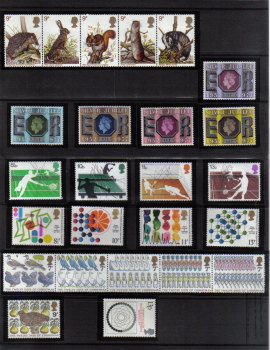British Stamps 1977 Complete set of stamps - MINT (h661)