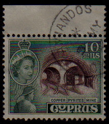AMIANDOS - Cyprus Stamps postmark DS4 Date Single Circle
