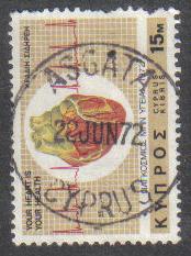 ASGATA Cyprus Stamps postmark DS7 Date Single Circle