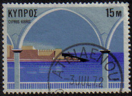ATHIAENOU Cyprus Stamps postmark DS7 Date Single Circle