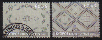 Cyprus Stamps SG 1241-42 2011 Cyprus Embroidery Lefkara Lace - USED (g066)