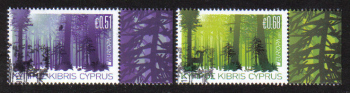 Cyprus Stamps SG 1246-47 2011 Europa Forests - CTO USED (e161)