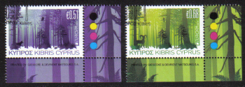 Cyprus Stamps SG 1246-47 2011 Europa Forests - CTO USED (e160)